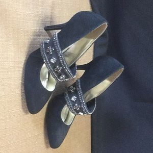 Suede shoes with Bling Size 9